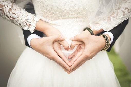 el traje blanco de la novia